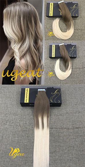 Tape In 100 Remy Human Hair Extensions Price 35 42 Balayage Ombre
