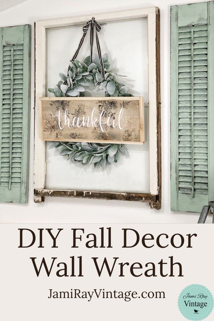 DIY Fall Decor Wall Wreath images