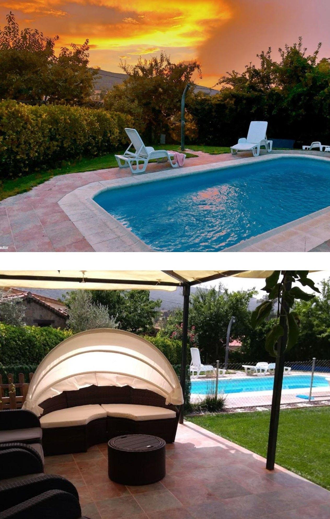 La Rinconada De La Sierra Alquiler Casa Rural Con Piscina Privada 9 Habitaciones En Salamanca En 2020 Casas Rurales Piscina Privada Casas Con Piscina