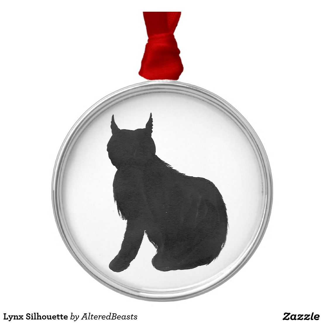 lynx silhouette holiday ornaments pinterest lynx ornament and