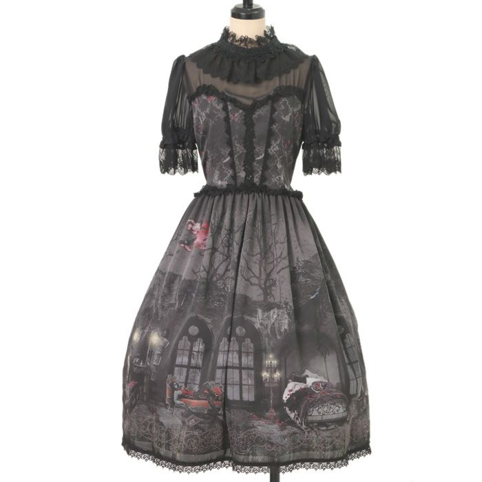 ♡ ALICE and the PIRATES ♡ Vampire Nocturne pattern dress http://www.wunderwelt.jp/products/detail9965.html ☆ ·.. · ° ☆ How to buy ☆ ·.. · ° ☆ http://www.wunderwelt.jp/user_data/shoppingguide-eng ☆ ·.. · ☆ Japanese Vintage Lolita clothing shop Wunderwelt ☆ ·.. · ☆
