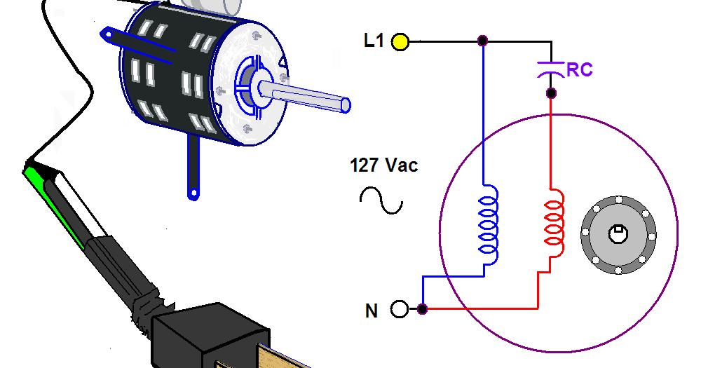 El Motor Eléctrico Con Capacitor Permanente Es Un Motor Monofásico Que Permite Mantener Conectado Un Capacitor Du Motor Eléctrico Instalación Electrica Motores
