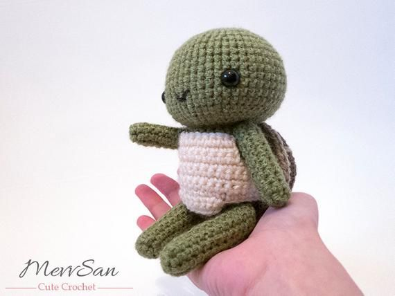 MADE to ORDER – Amigurumi Woodland Critter Turtle – crochet animal plush, amigurumi turtle toy, turtle plush, cute crochet turtle doll