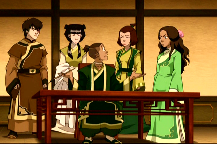 Avatar: The Last Airbender One of the ending scenes where Sokka