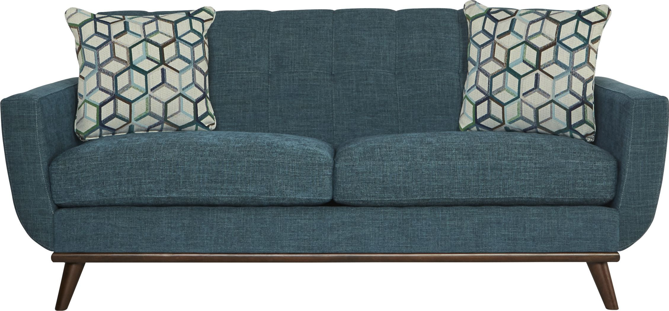 East Side Teal Apartment Sofa Teal Sofa Affordable Furniture