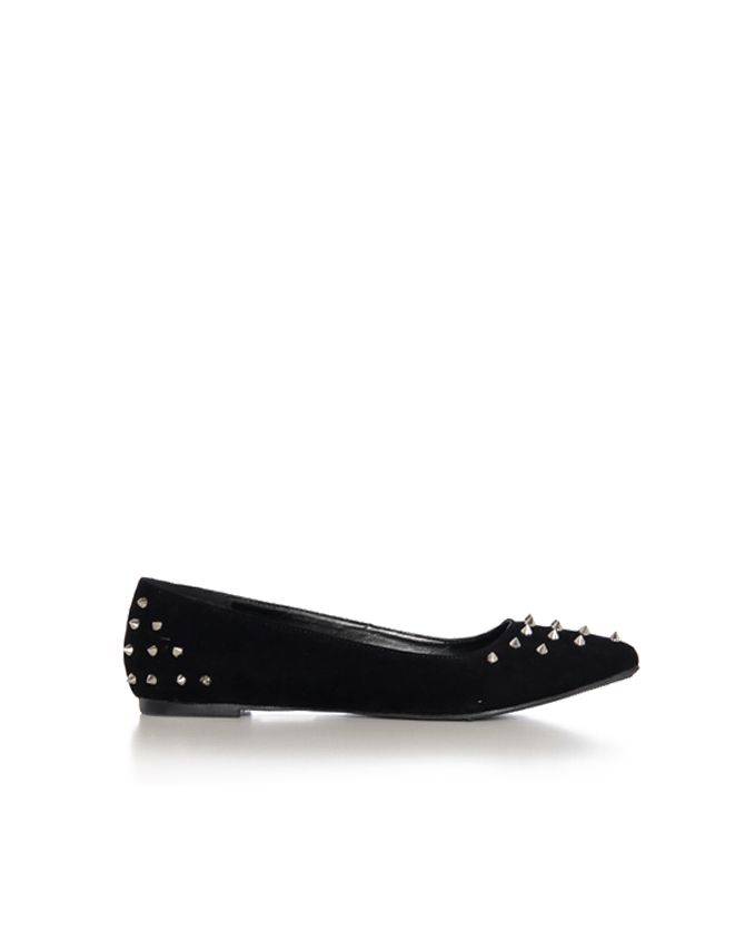 Spiked Suede Flats