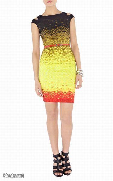 Karen Millen kotelomekko / Karen Millen dress.   The shoes and the contrast in the dress is love!