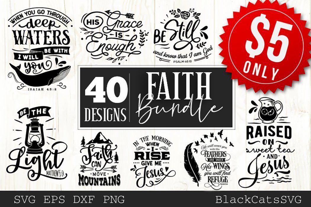 Download Faith SVG bundle 40 designs in 2020   Faith svg, Christian ...