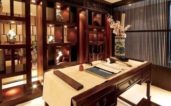 Oriental Chinese Interior Design Asian Inspired Study Room Home Decor  Http://www.
