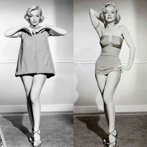 90s costume Marilyn Monroe in a costume test for How to Marry A Millionaire (1953). #marilynmonroe #htmam #1953