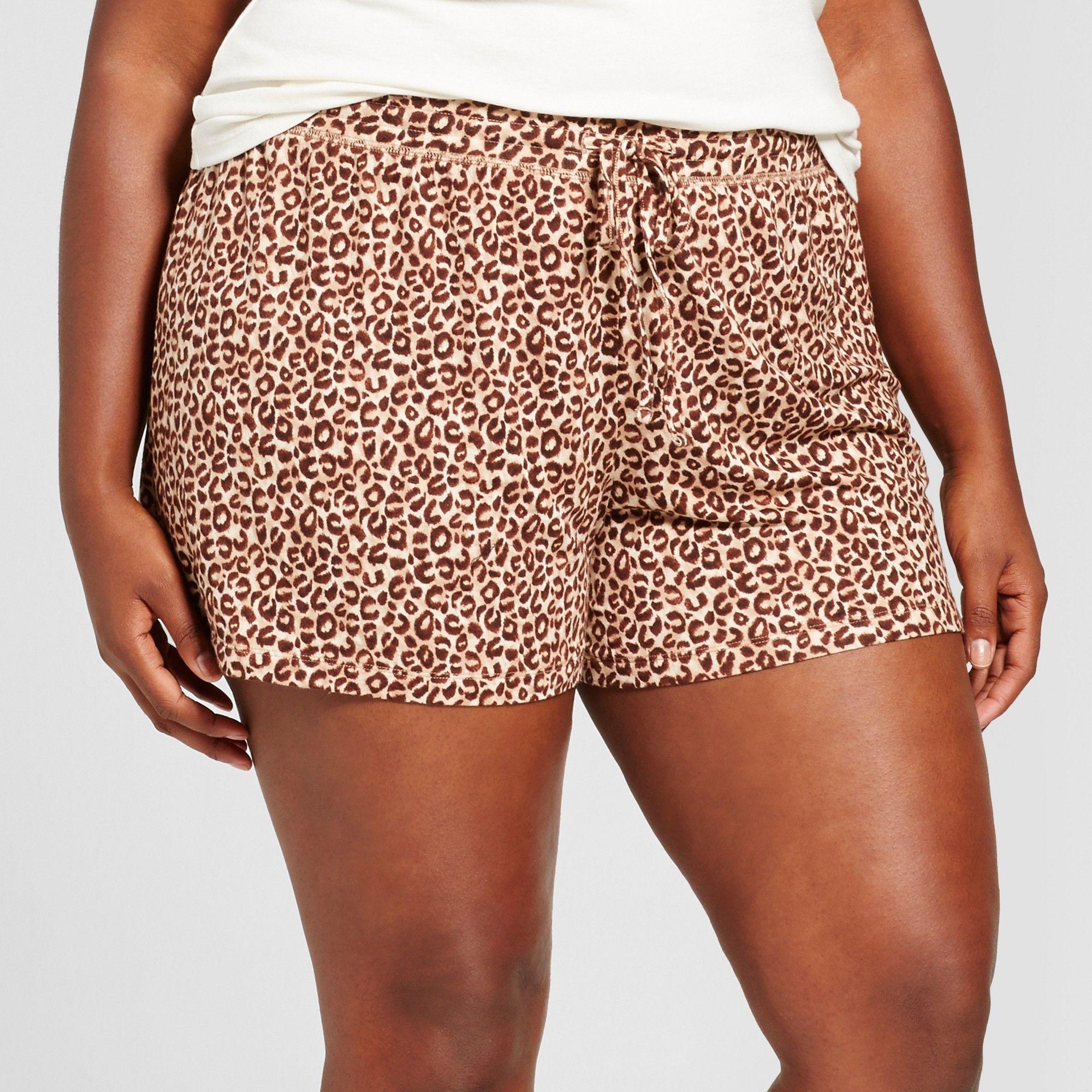 e8821951dc4c Women s Plus Size Pajama Shorts Black 2X