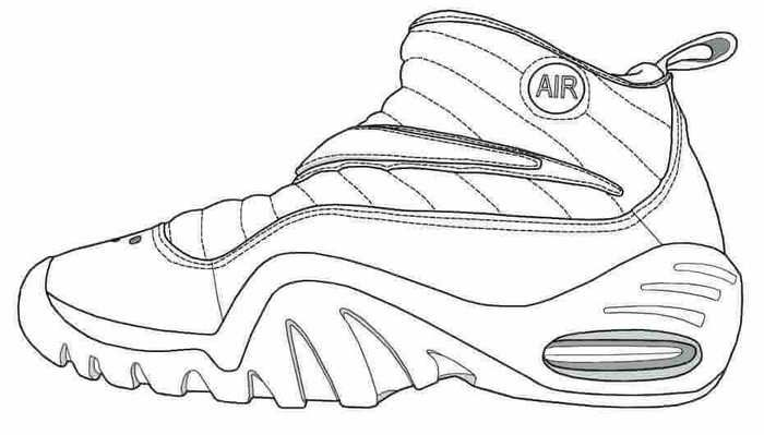 Basketball Coloring Pages To Print For Kids Kids Prints Shoes Drawing Basketball Shoes