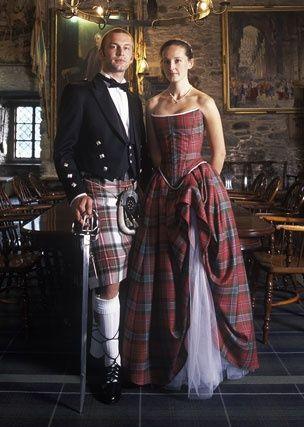 Scottish Plaid Wedding Dress