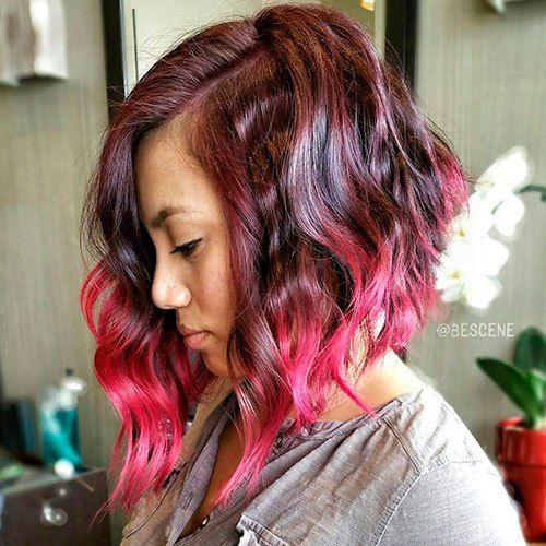 20 Dip Dye Hair Ideas Delight For All Dip Dye Hair Burgundy Hair Red Hair Color