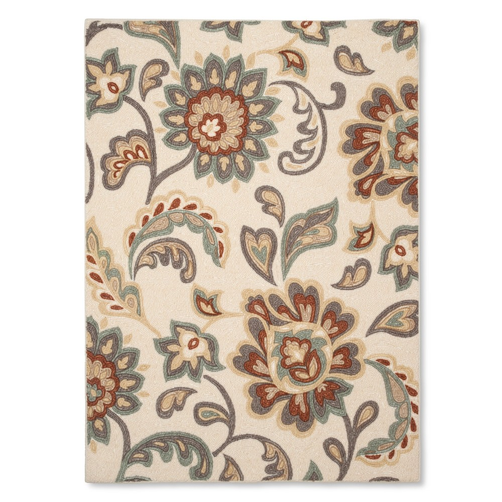 4 X5 6 Paisley Floral Area Rug Tan Maples Floral Accent Rug Maples Rugs Floral Rug