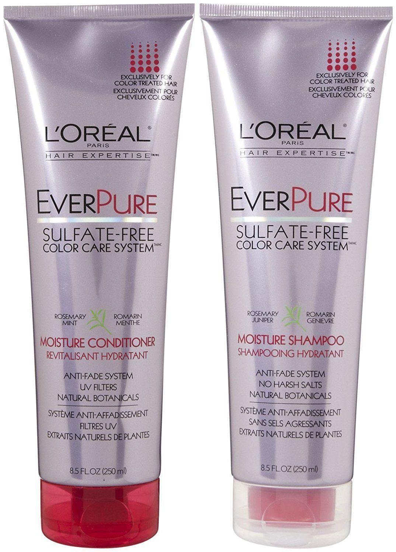 L Oreal Paris Everpure Sulfate Free Color Care System Moisture Duo Set Shampoo Conditioner 8 5 Ounce Shampoo Moisturizing Shampoo Shampoo And Conditioner