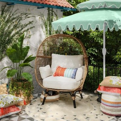 Southport Patio Egg Chair Linen Opalhouse