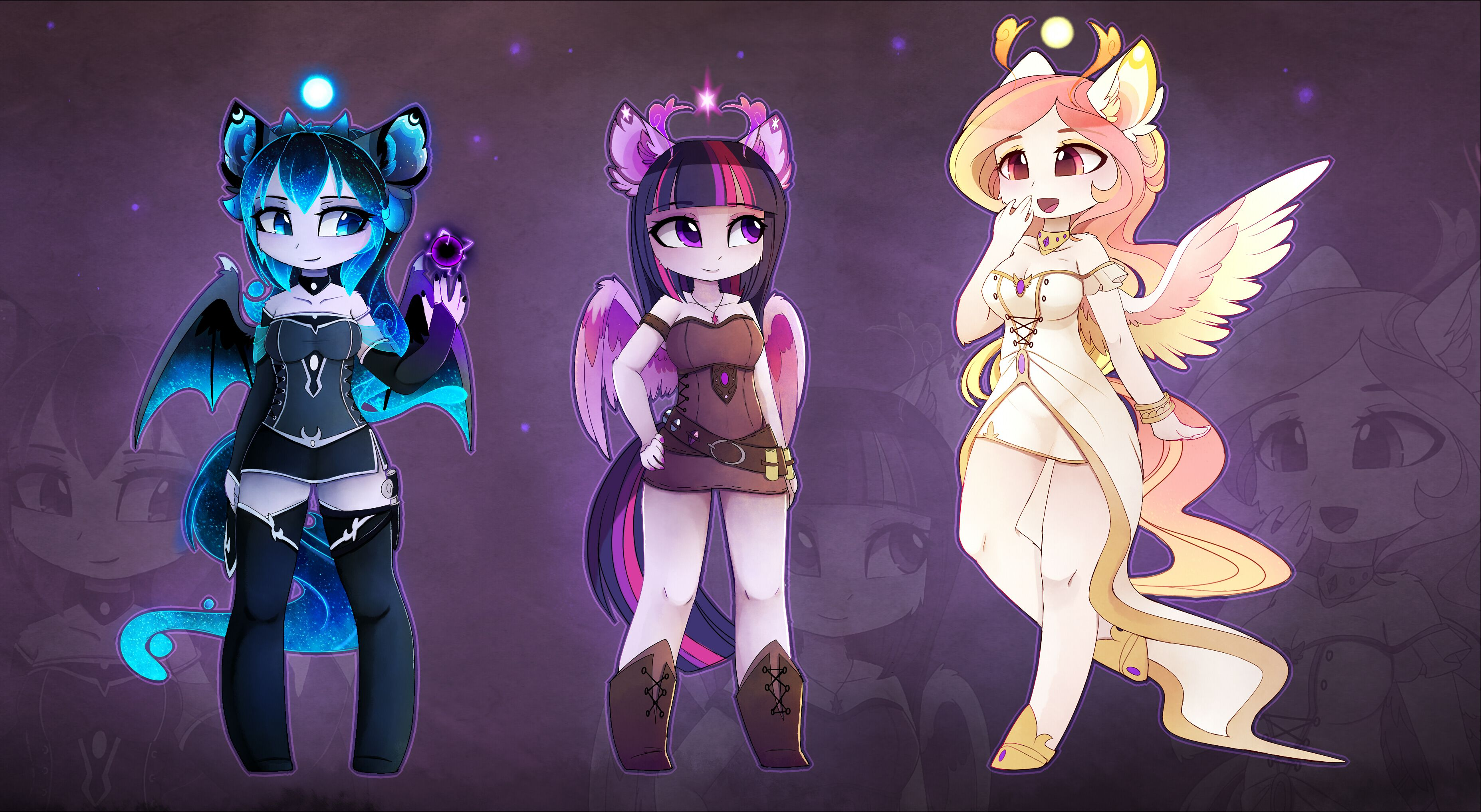 Anthro Goddesses By Magnaluna My Little Pony Pictures