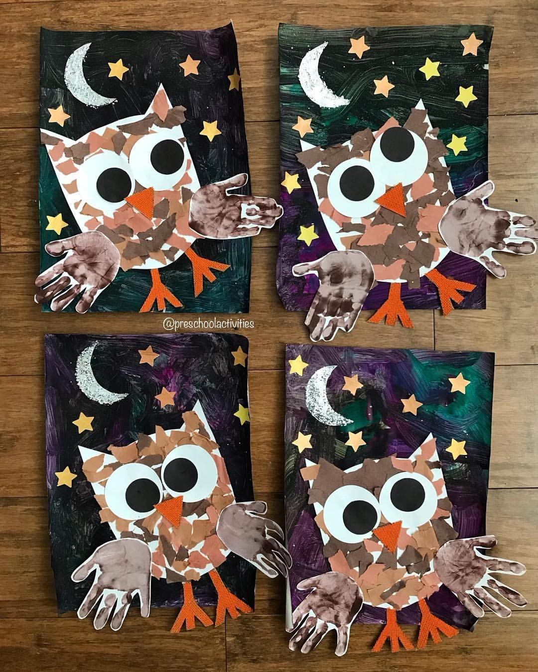 Owls October 13 Prek Preschool Preschoolart