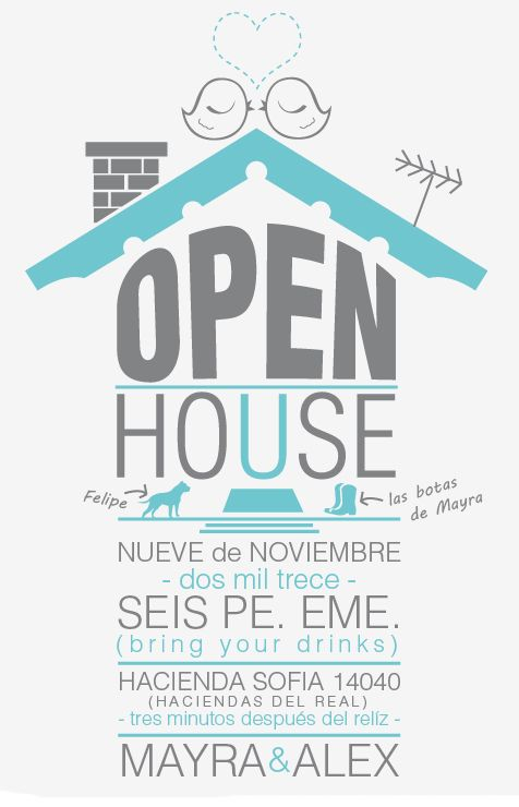 Invitación Open House Fiesta De Inauguración Del Hogar