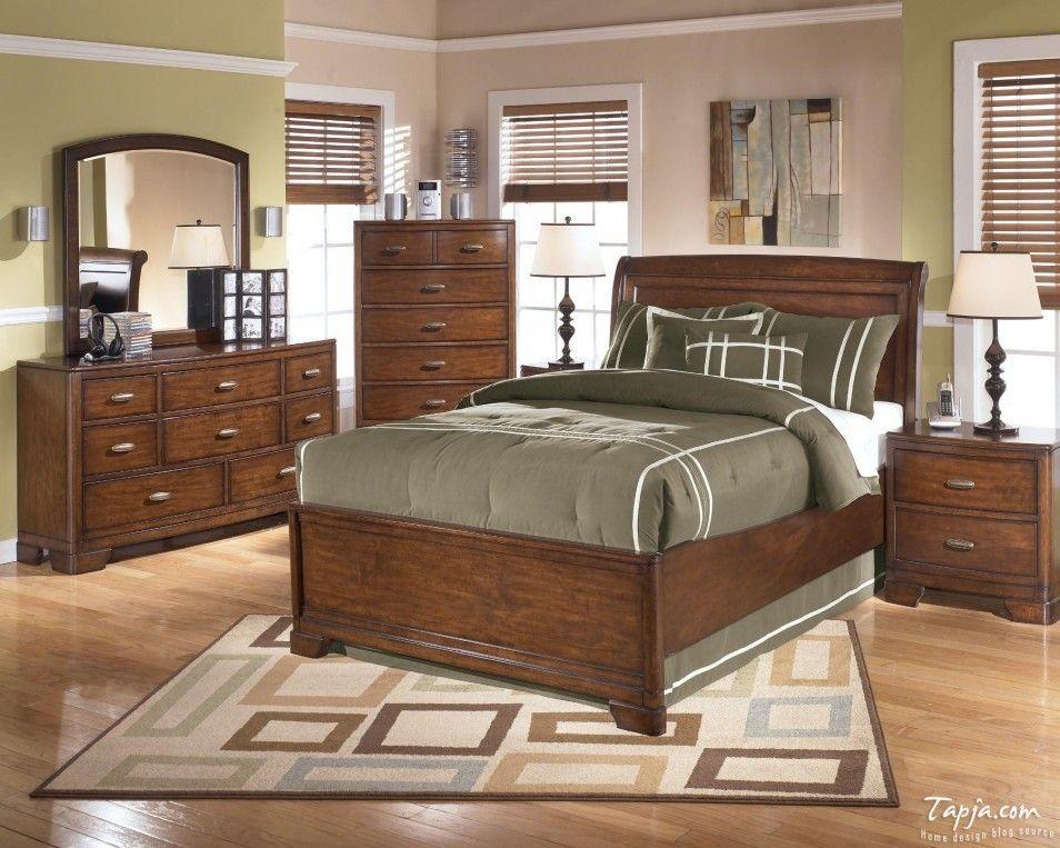 Gorgeous Bedroom Interior Design In Luxury Brown And Green Bedroom