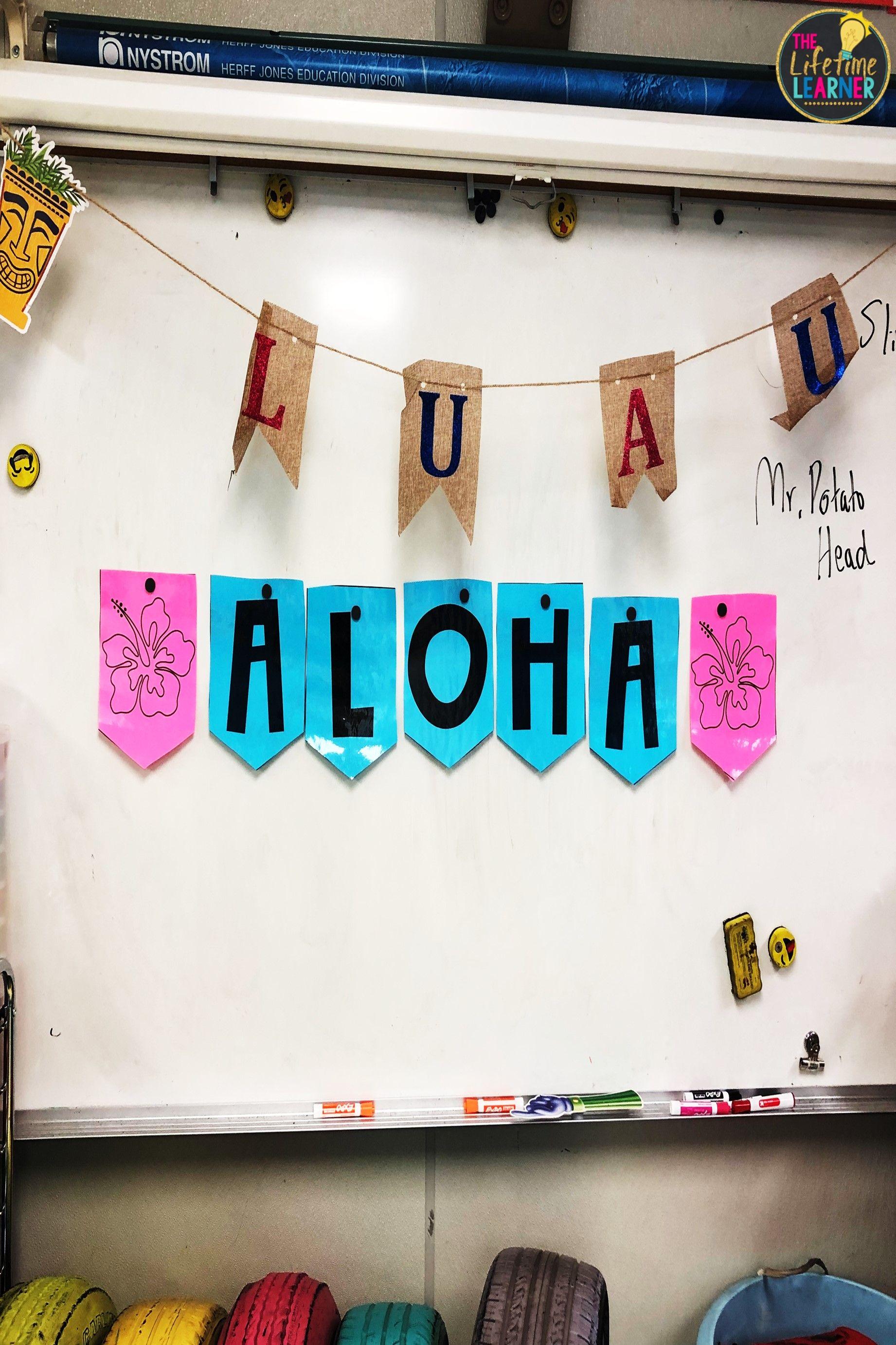 Check Out This Fun Hawaiian Summer Classroom