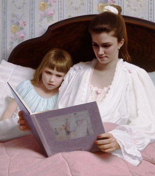 Mother and child--Bedtime stories   Stephen Gjertson