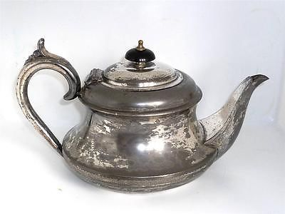 Antique Sheffield Silver Plate Pewter Tea Pot By Pc