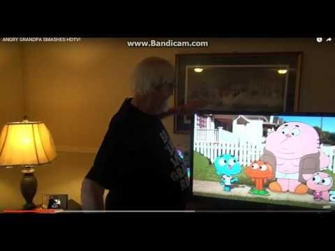 Angry Grandpa Hits HD TV Too Many Times! - YouTube   YouTube ...