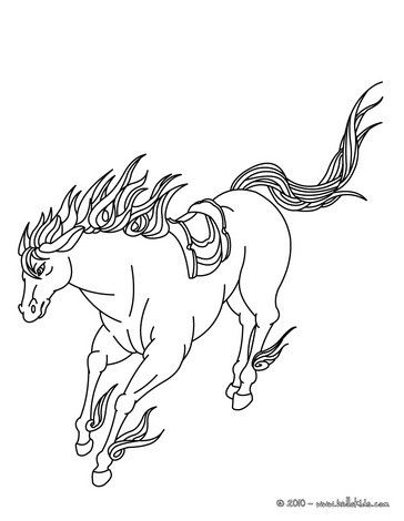 Running Wild Horse Coloring Page Cute And Amazing Farm Animals For Kids