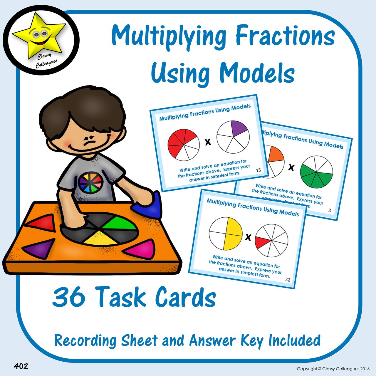Multiplying Fractions Using Models