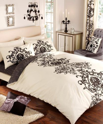 Details About Gaveno Cavailia Design Duvet Set Jewels Cream Black