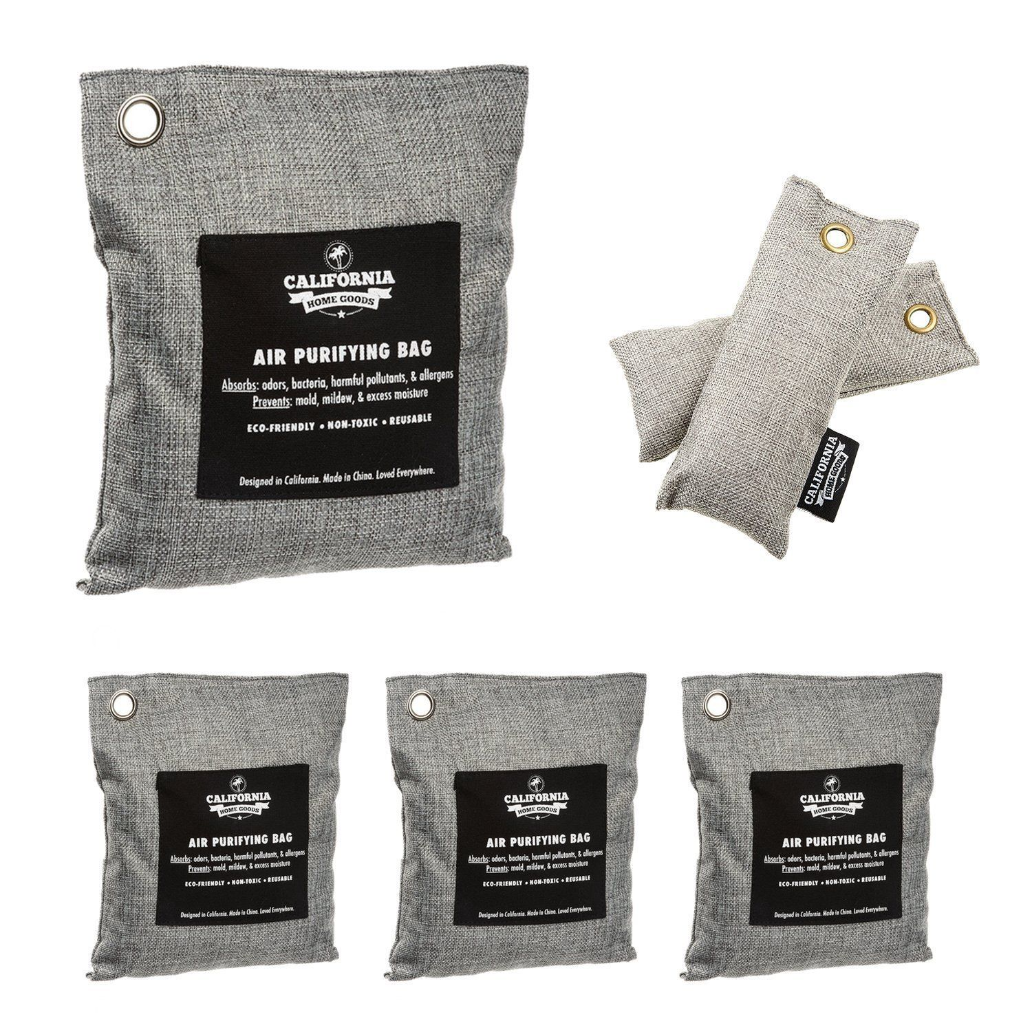 6 Pack Activated Charcoal Deodorizer Odor Neutralizer