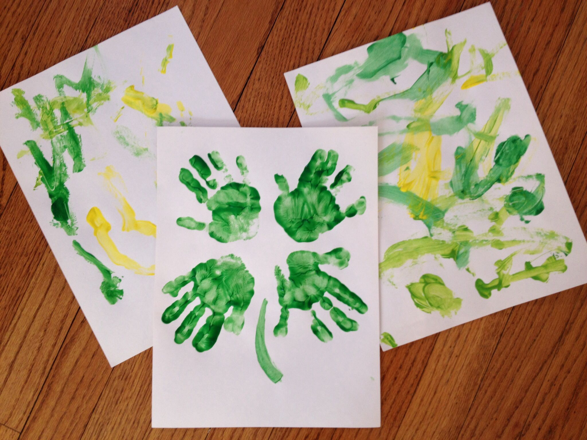 Toddler craft: St Patricks Day painting. Construction ...
