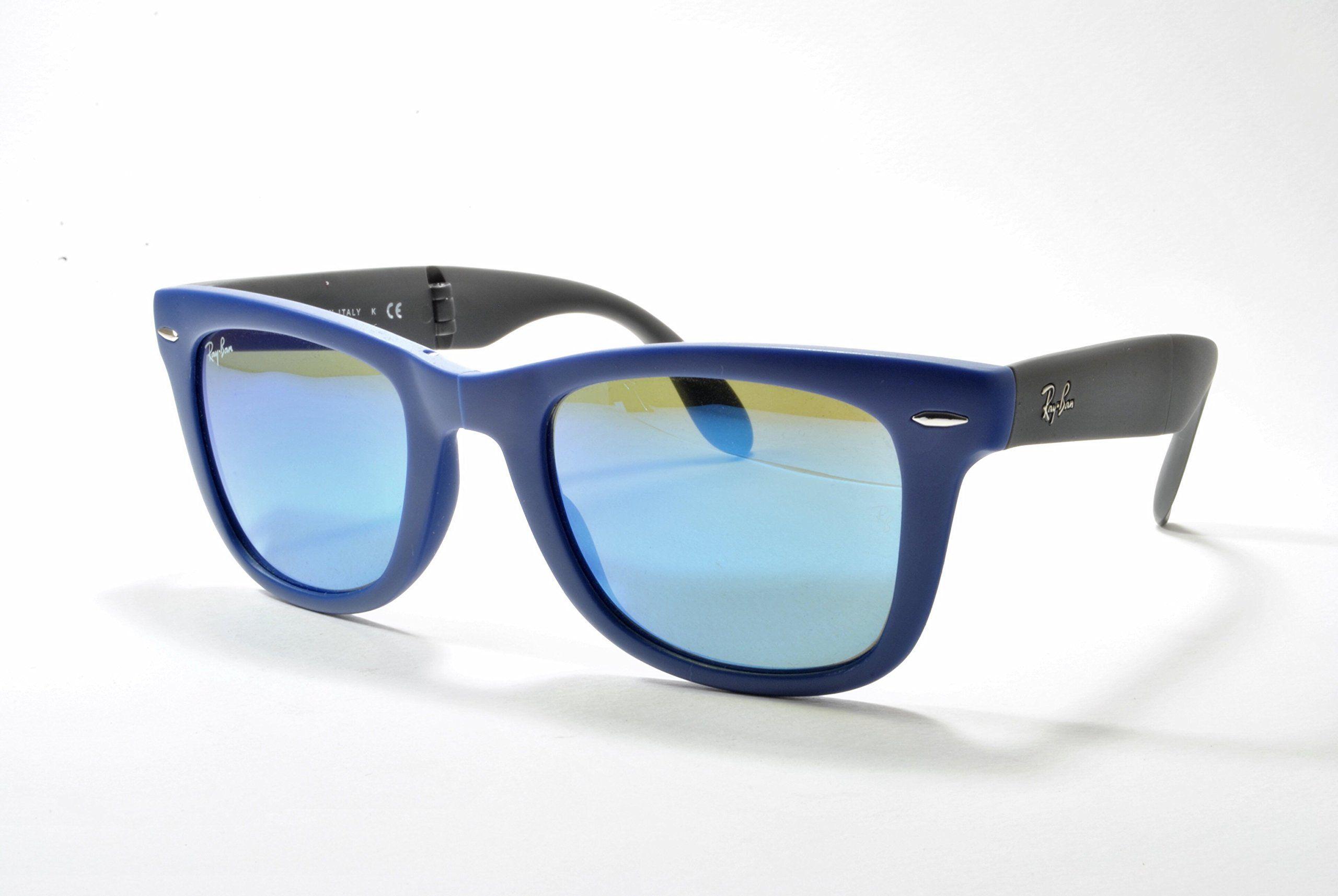 ray ban rb4105 folding wayfarer - matte blue