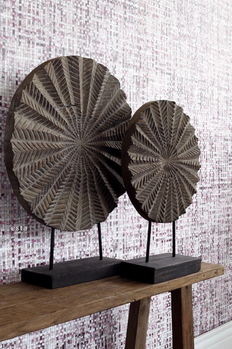 chalk printed eco texture non woven wallpaper Woven linen