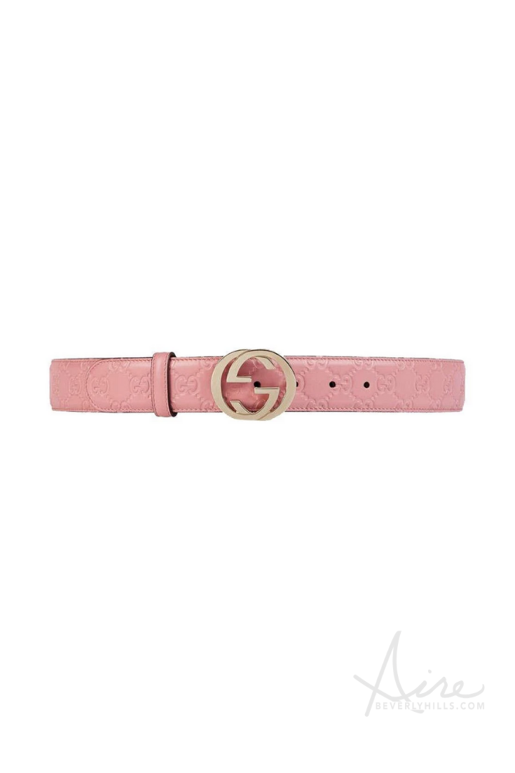 Gucci Women S Signature Soft Pink Belt Pink Belt Pink Gucci Belt Belt