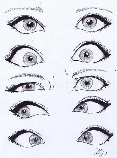 How To Draw Anime Eyes I Think This Really Helps A Lot With Eye Expressions Haha Have Friend Who Has Done These Looks Just Like Her 3