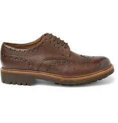 Leather Wingtip Brogues+|+MR PORTER | Brogues men, Dress