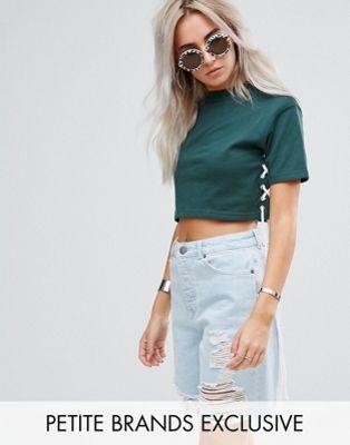 Missguided Petite CROPPED - Camicia white