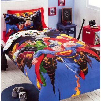 Justice League Bedding Set Justice League Bedding Bed Superhero Bedroom