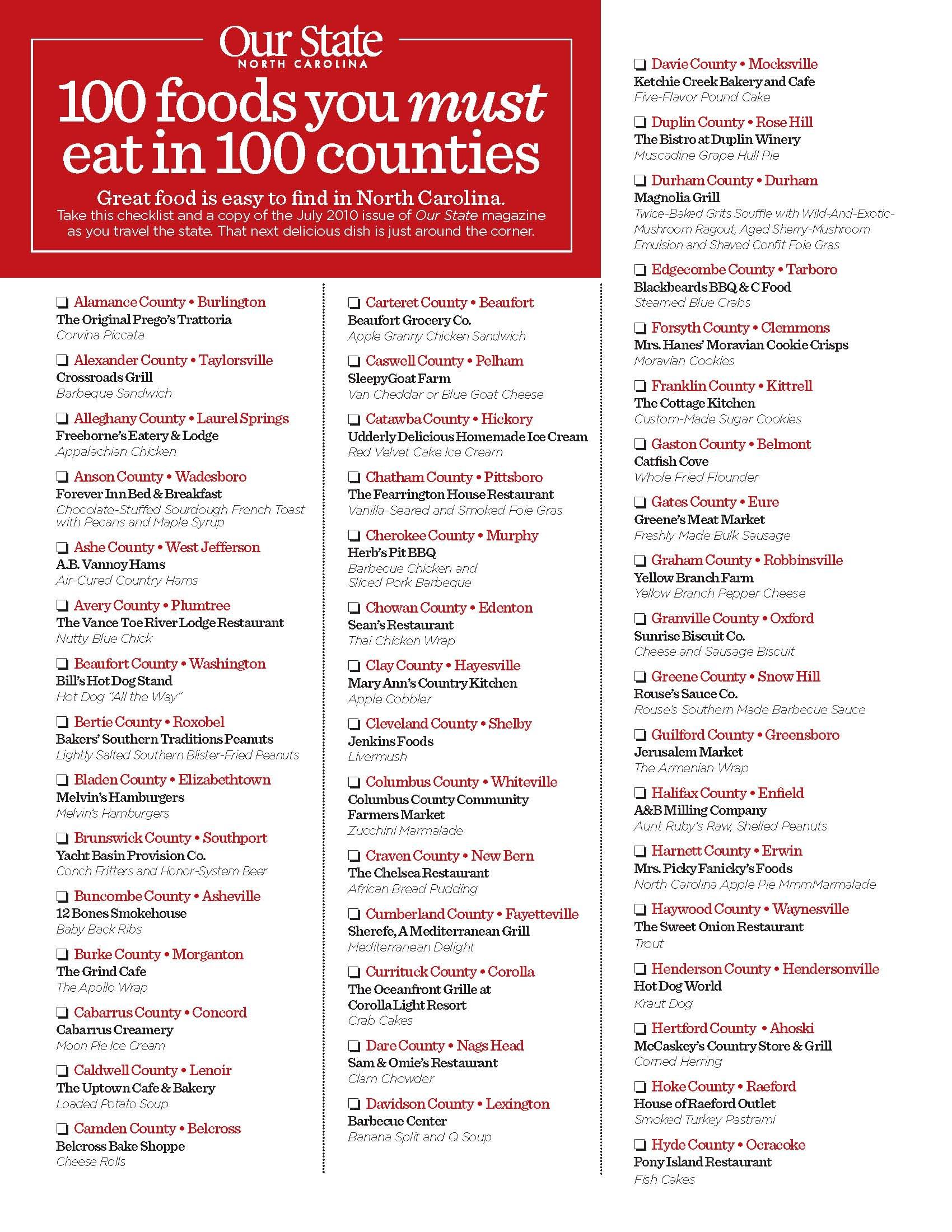100 Foods You Must Eat in 100 Counties | Magazines, Food and North ...