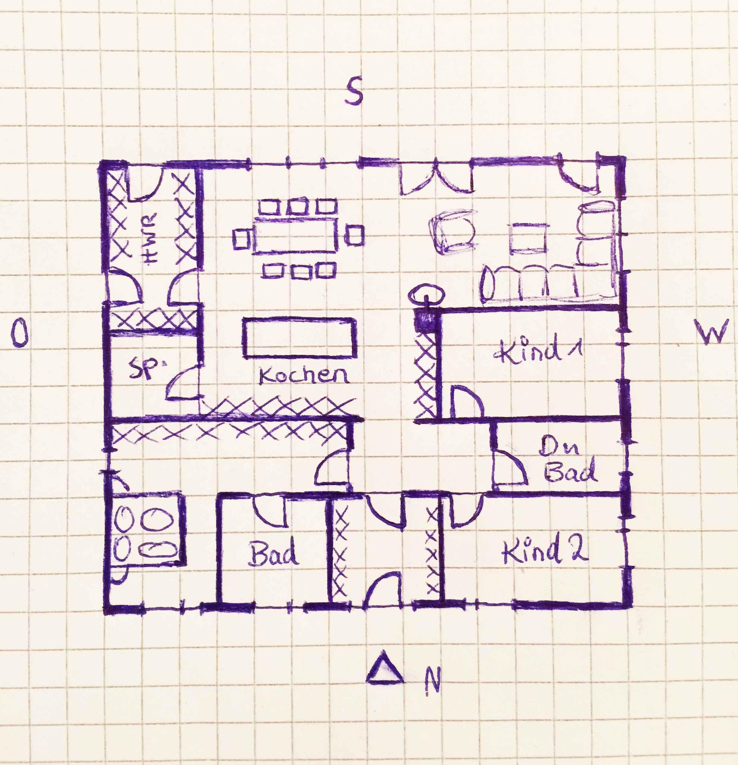moderne bungalows grundrisse zeichnen Grundriss bungalow