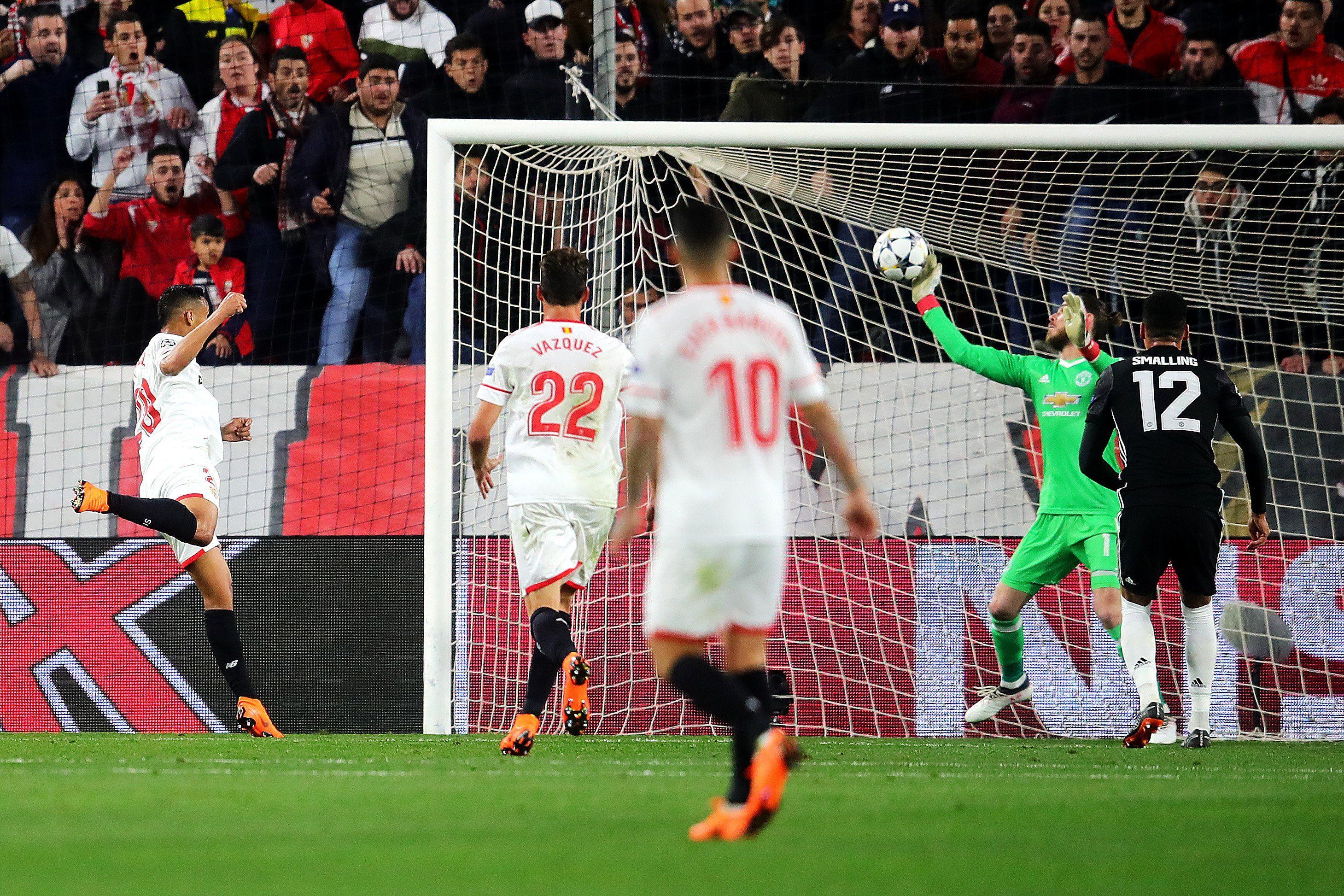 Champions League De Gea Saves Manchester United Against Sevilla Manchester United Uefa Champions League Champions League