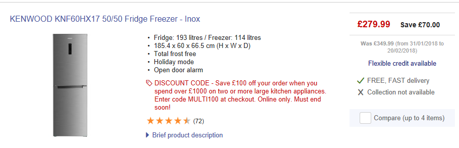 fridge freezer ideas currys | Freezer, Door alarms, New homes
