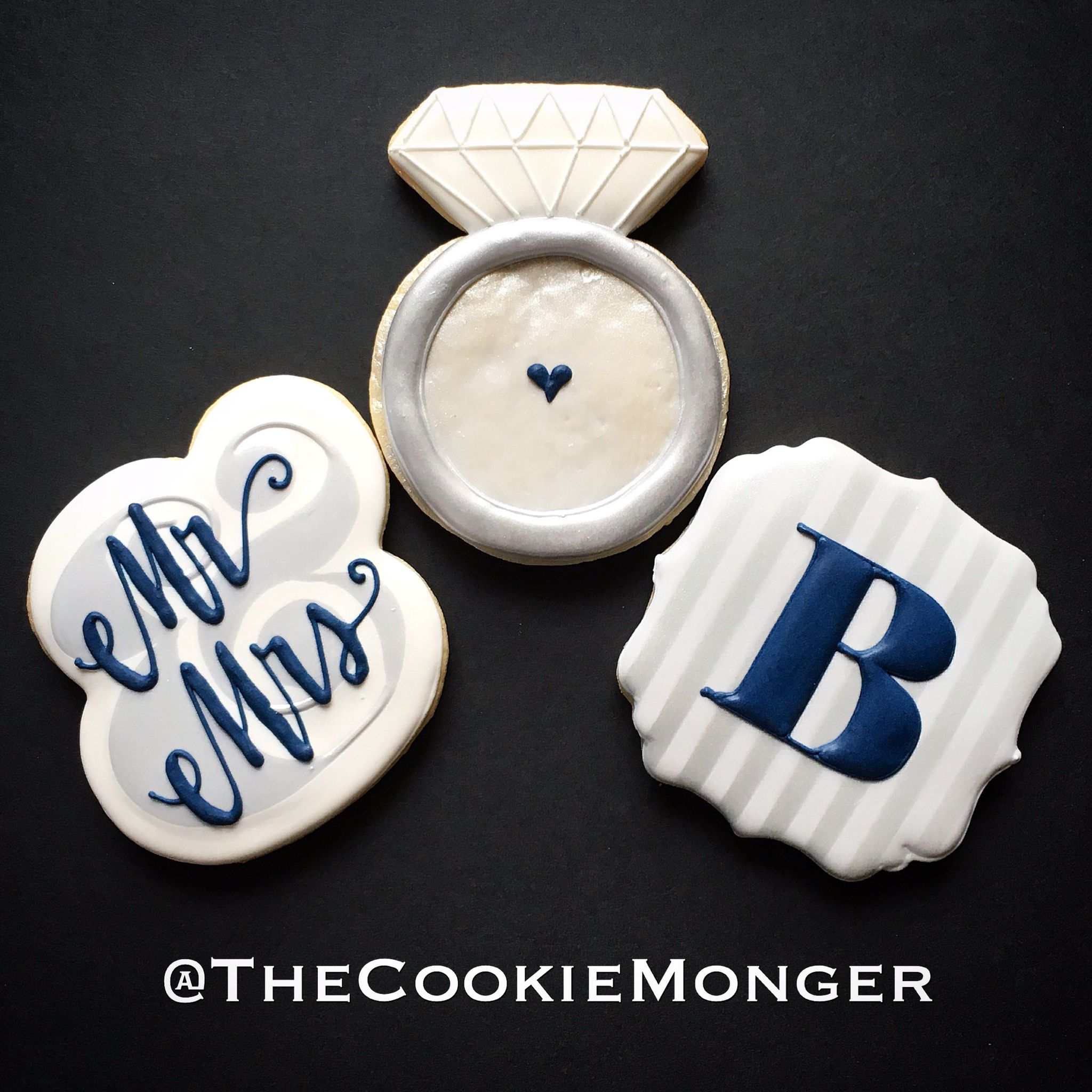 Elegant Shower Cookies ~ The CookieMonger ~ We can turn any idea into awesome cookies!  Email thecookiemonger@outlook.com.