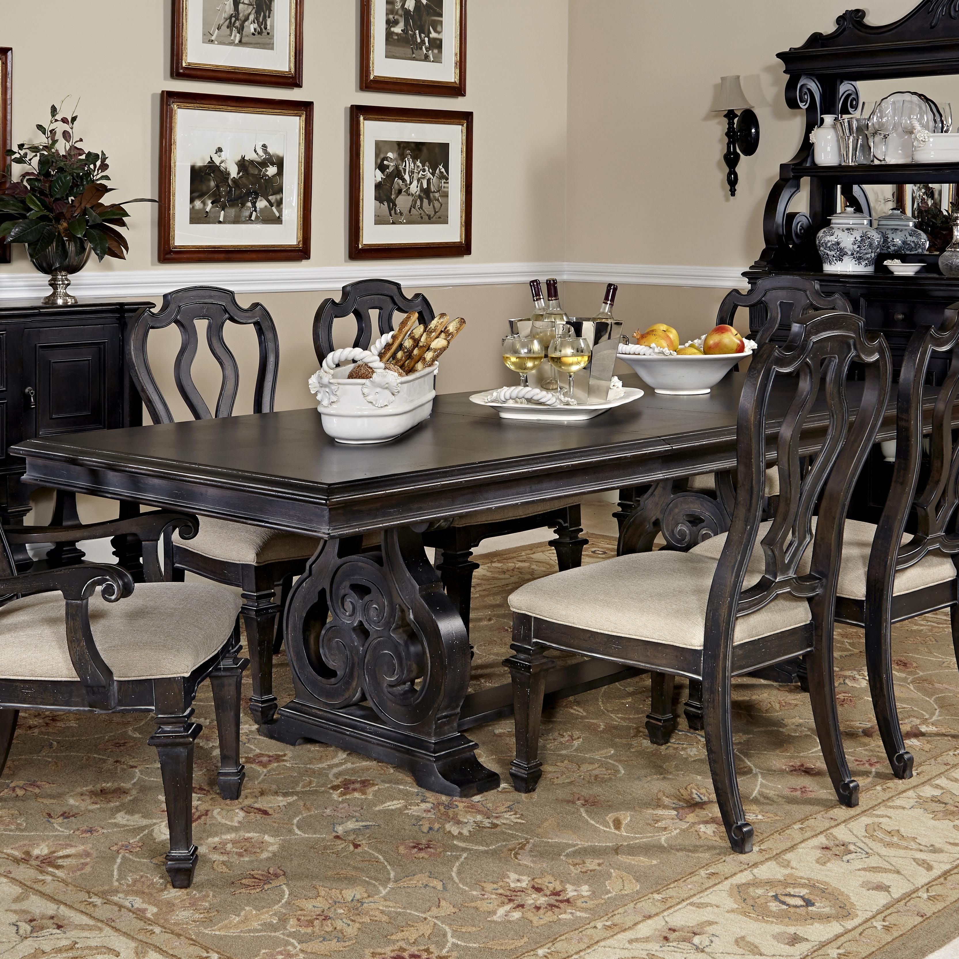 Room Manchester Court Trestle Dining Table