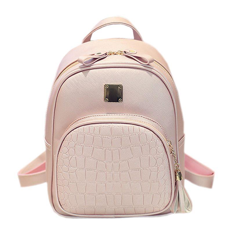 cd3b68696993 Alligator Pattern Girl School Bags For Teenagers Women Small Backpack Black  Leather Women s Backpacks Fashion Female Backpacks