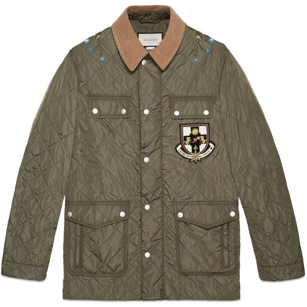 Gucci Quilted Nylon Jacket With Appliqus 1915 Liked On