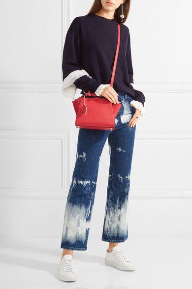 e27e24a9bc68 FENDI 3Jours small Red leather shoulder bag